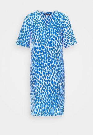 ANIMAL SHIFT DRESS - Day dress - blue