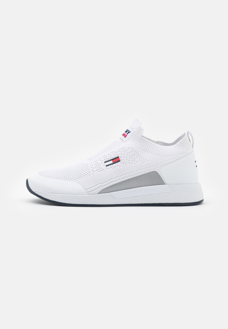 Tommy Jeans - FLEXI SOCK RUNNER - Trainers - white