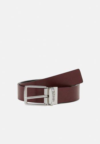 UNISEX - Belt - rubino/nero