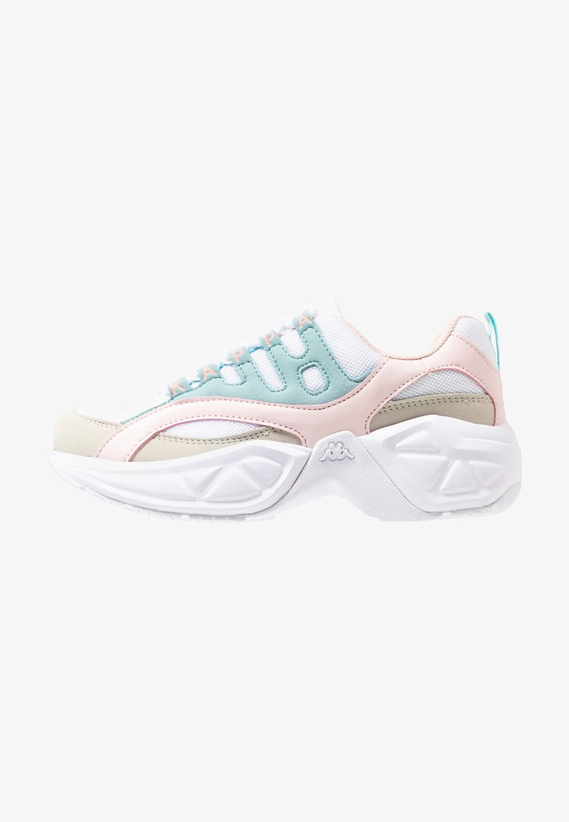 Kappa - OVERTON - Sports shoes - white/mint