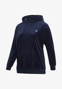 adidas Originals - VELOUR TREFOIL HOODIE (PLUS SIZE) - Hoodie - blue - 8