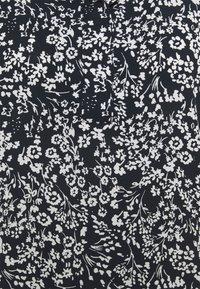 TOM TAILOR - WITH FEMININE NECKLINE - Blouse - navy offwhite flower - 2
