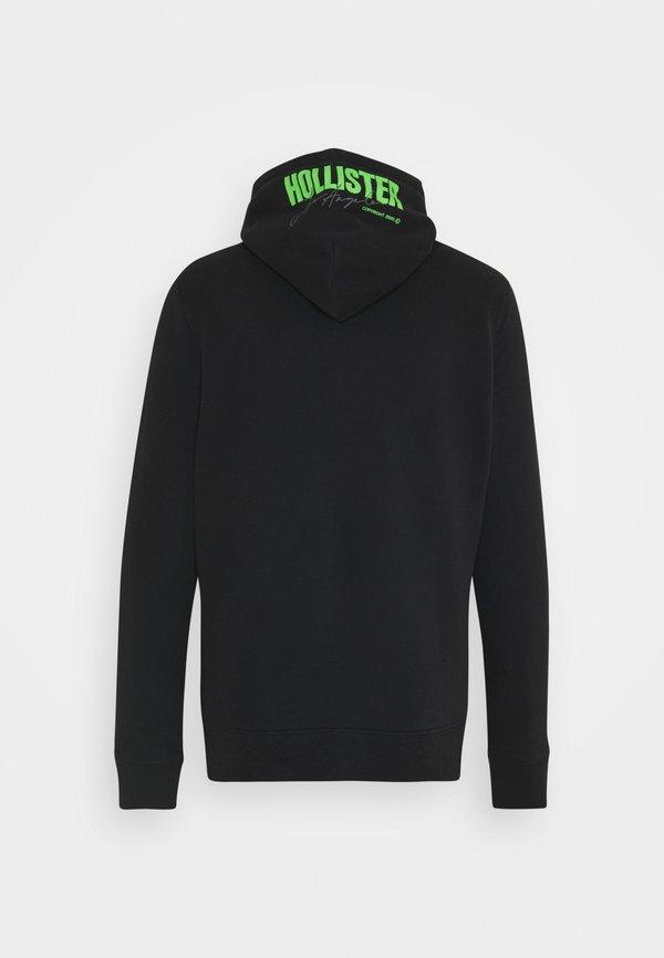 Hollister Co. GLOW IN THE DARK - Bluza - black with green/czarny Odzież Męska PQJW