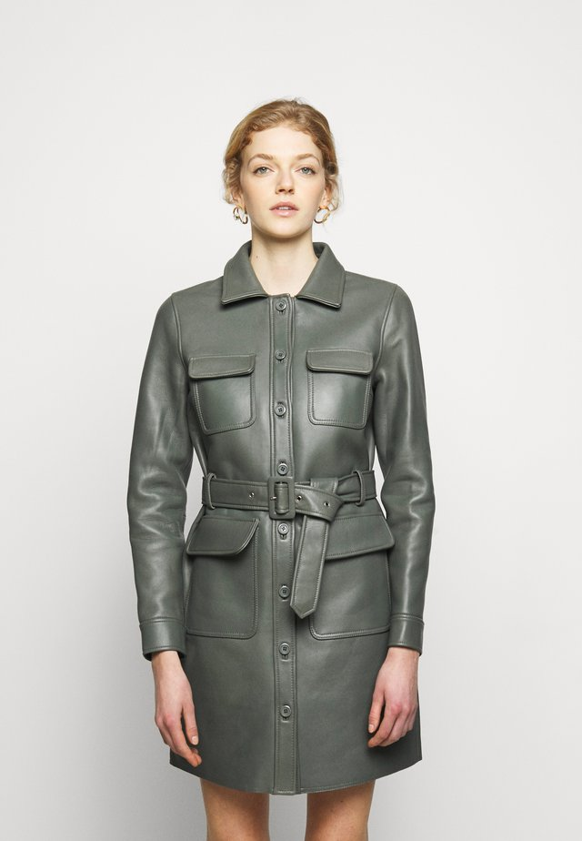 SWAY DRESS - Shirt dress - castor