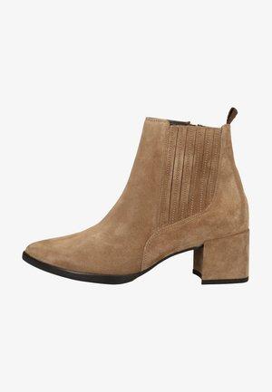 STIEFELETTE - Ankle boot - grau-braun 017