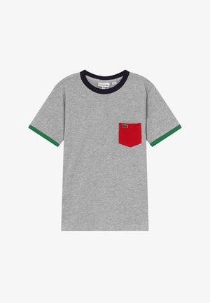 TEE TURTLE NECK - Print T-shirt - argent chine