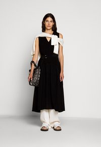 3.1 Phillip Lim - V NECK TANK DRESS SHIRRED SKIRT - Day dress - black - 1