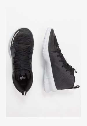 UA JET - Basketballschuh - black / halo gray / halo gray