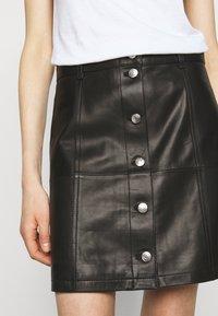 Iro - SKIRT - Kožená sukně - black - 3