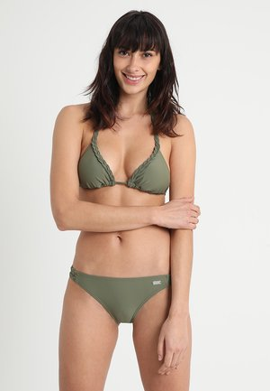 TRIANGLE SET - Bikini - oliv