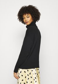 GAP - CROP OVERSIZED TNECK - Jumper - true black - 2