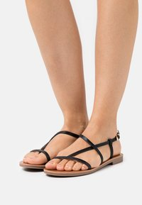 ONLY SHOES - ONLMELLY STRING  - T-bar sandals - black - 0
