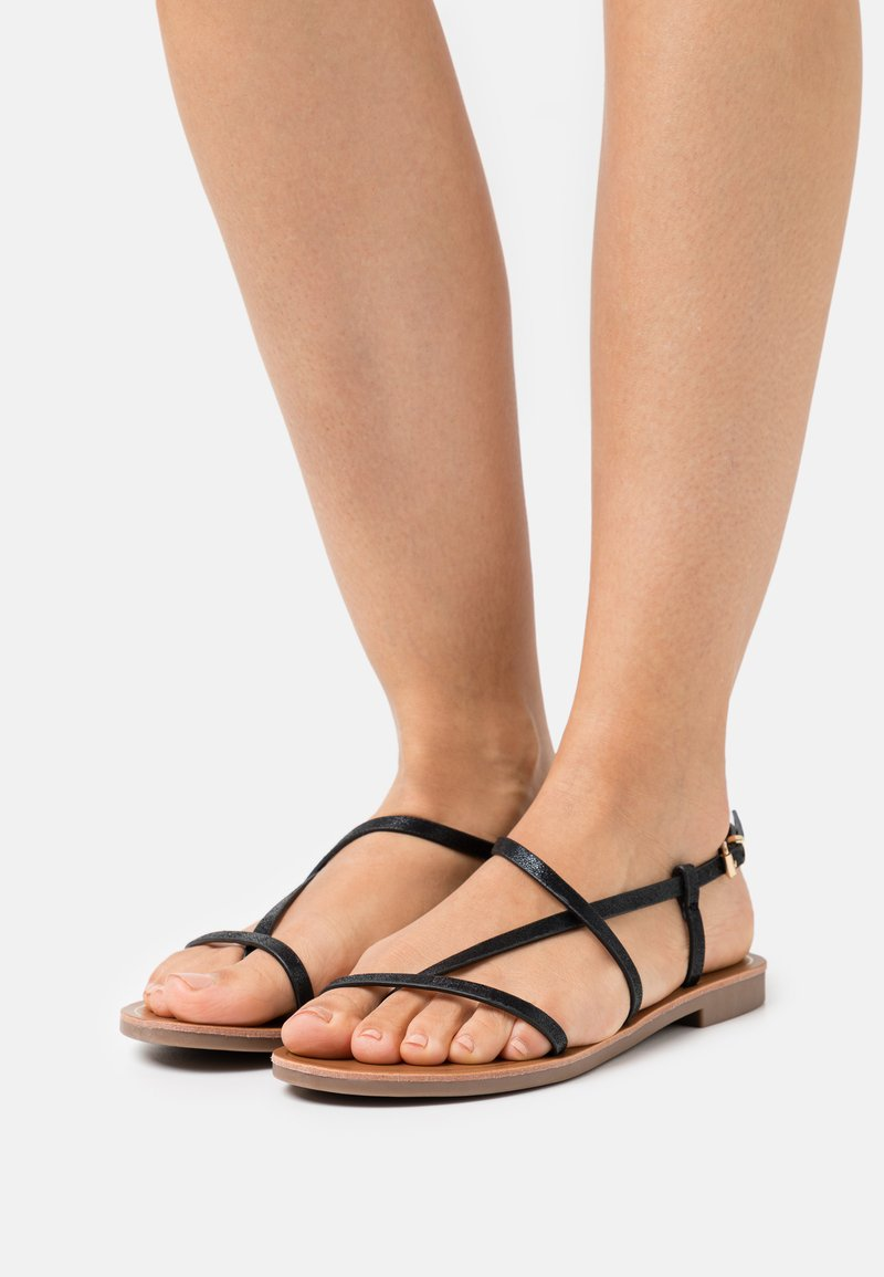 ONLY SHOES - ONLMELLY STRING  - T-bar sandals - black