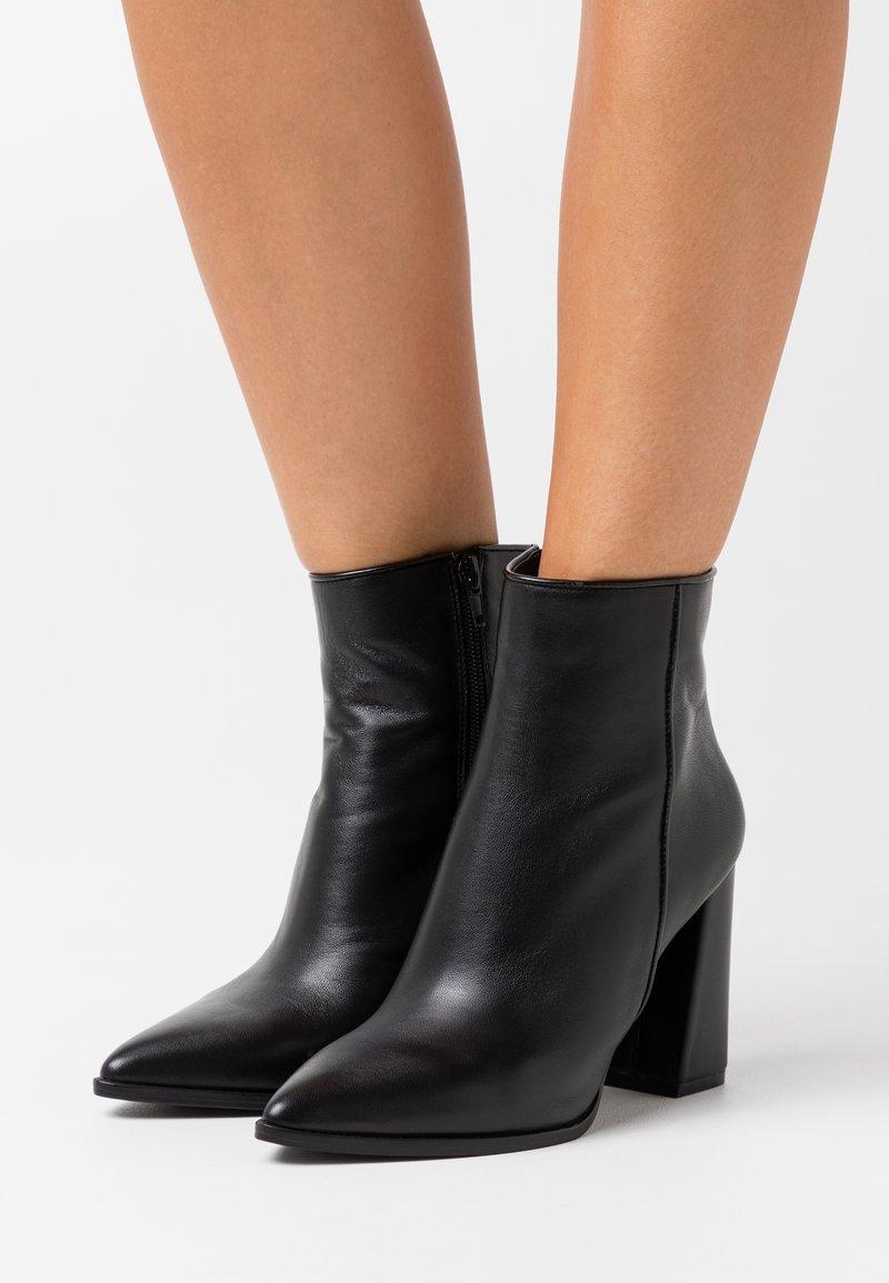 Steve Madden - RAYNI - High heeled ankle boots - black