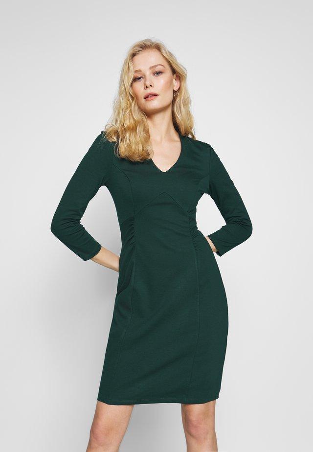 BASIC - Shift dress - dark green