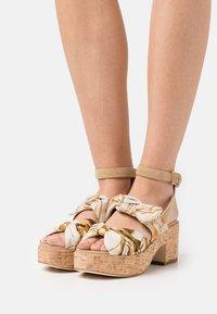 Alberta Ferretti - Platform sandals - beige - 0