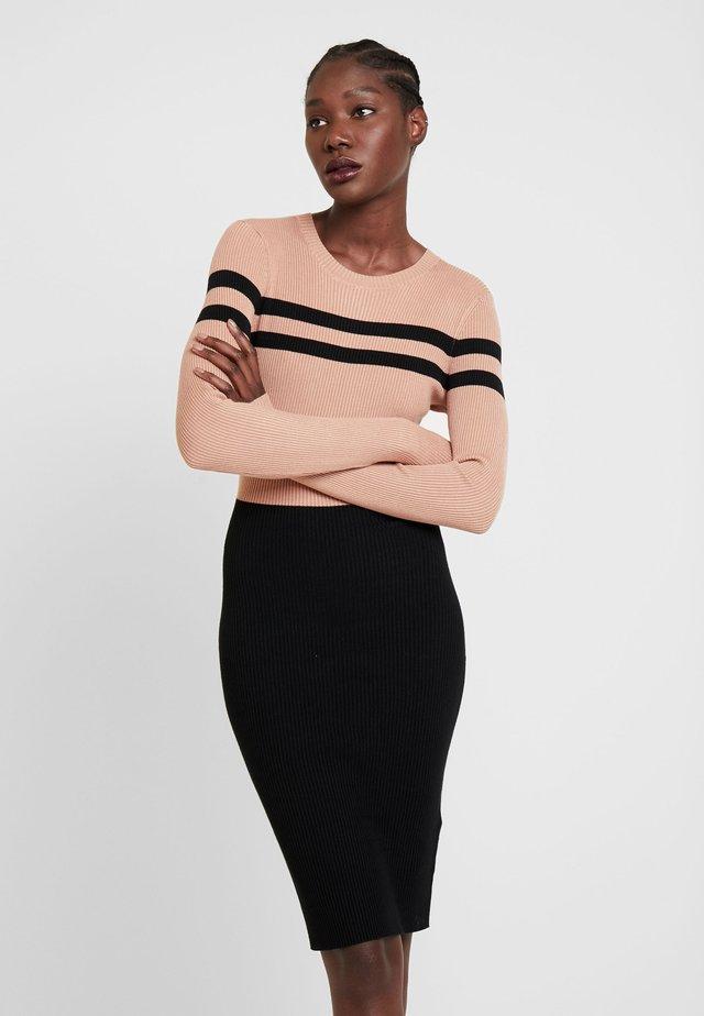 Etuikleid - black/beige