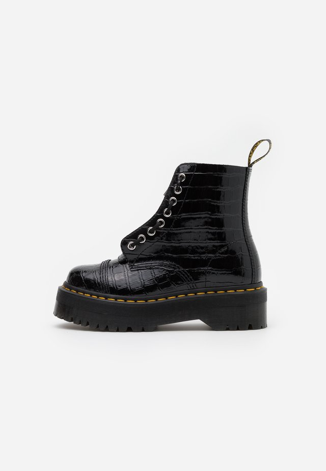 SINCLAIR - Bottines à plateau - black
