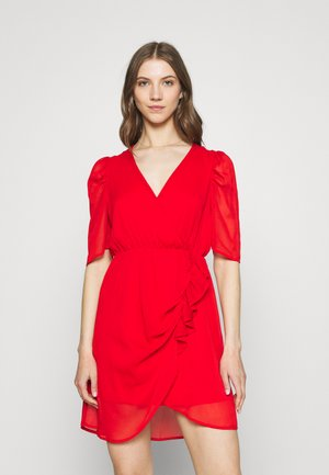 VMJEAN WRAP DRESS  - Cocktail dress / Party dress - goji berry