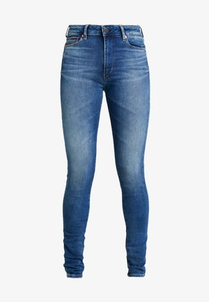 TJ 2008 HIGH RISE SUPER SKNY MNM - Jeansy Skinny Fit - maine mid bl str
