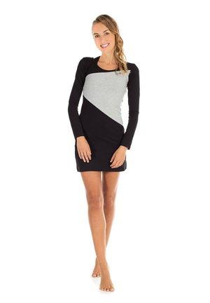Korte jurk - schwarz/grey