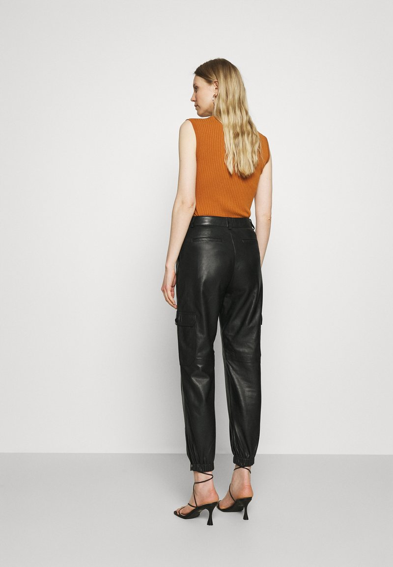 Part Two - GERTA - Leather trousers - black