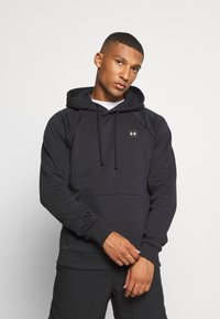 Under Armour - RIVAL HOODIE - Hættetrøjer - black/onyx white - 0