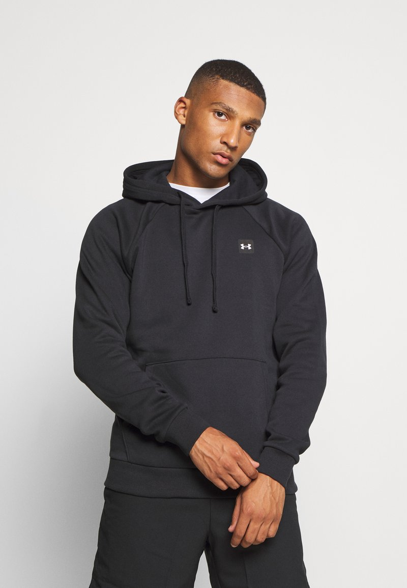 Under Armour - RIVAL  - Hoodie - black/onyx white