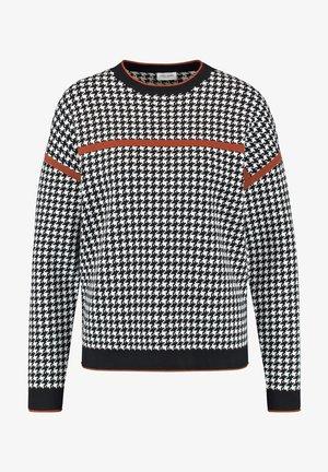 Sweatshirt - schwarz/ sahne/ haselnuß