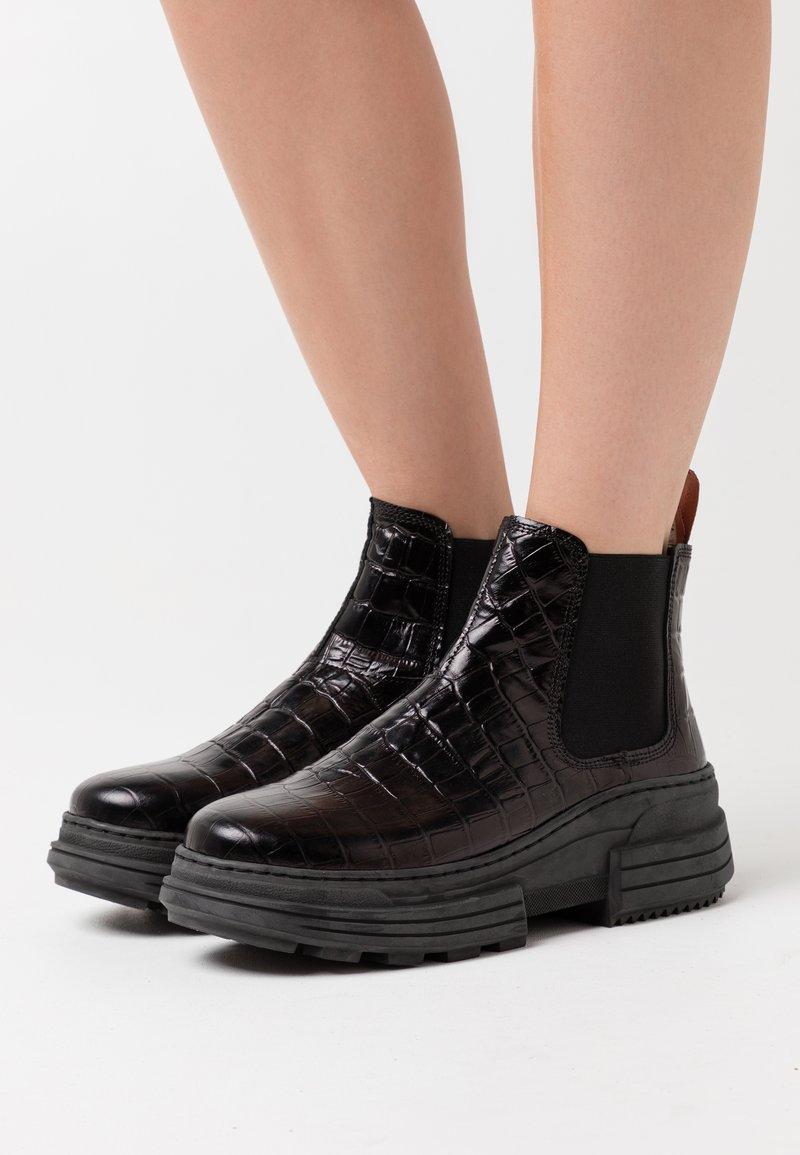 Scotch & Soda - CARA - Kotníková obuv - black