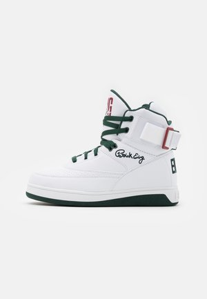 33 - High-top trainers - white/sycamore/biking red
