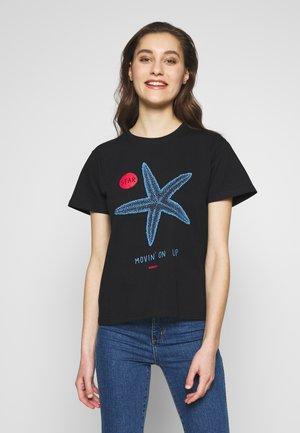 STARFISH TEE - T-shirt z nadrukiem - black