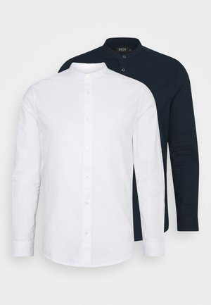 LONG SLEEVE OXFORD GRANDAD 2 PACK - Košile - dark blue/white