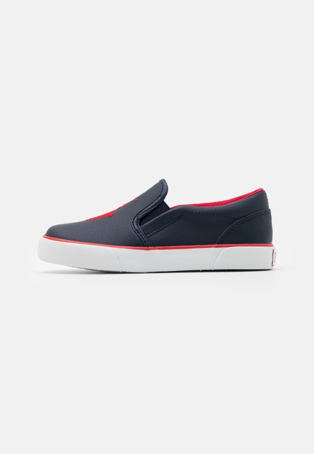 BAL HARBOUR UNISEX - Slip-ons - navy/red