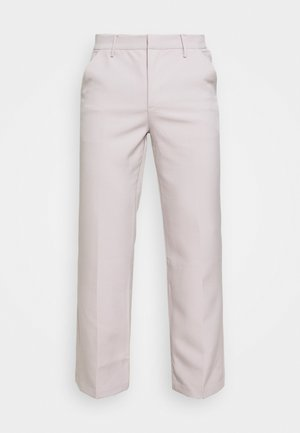 HAVANA CHAIN STRAIGHT TROUSER - Kangashousut - light grey