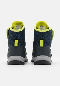 Geox - FLANFIL BOY WPF - Winter boots - navy/lime - 2