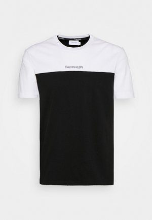 COLOR BLOCK - T-shirt imprimé - white