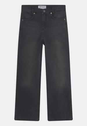 GIRLS WIDE LEG - Jeans relaxed fit - black