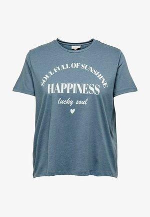 T-shirt con stampa - blue mirage