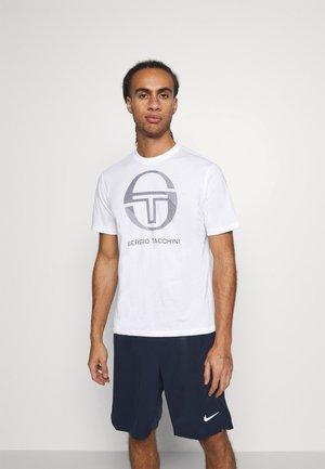 NEW ELBOW - Print T-shirt - white/navy