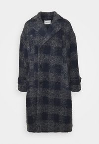 PLUMBER LONG COAT - Classic coat - grey/dark blue