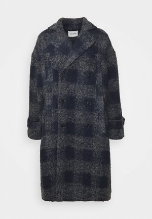 PLUMBER LONG COAT - Classic coat - grey/dark blue
