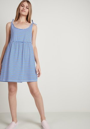 Day dress - st.riga bianco/blu baltimora