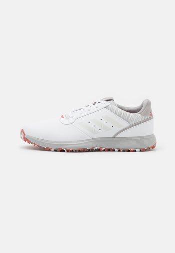 S2G  - Obuwie do golfa - footwear white/grey one/red