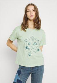 Trendyol - Print T-shirt - mint - 0