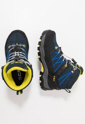 KIDS RIGEL MID TREKKING SHOE WP - Hiking shoes - cosmo/lemonade