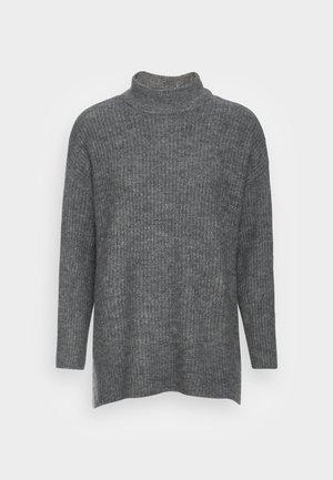ONLKARINNA HIGHNECK - Jumper - medium grey melange