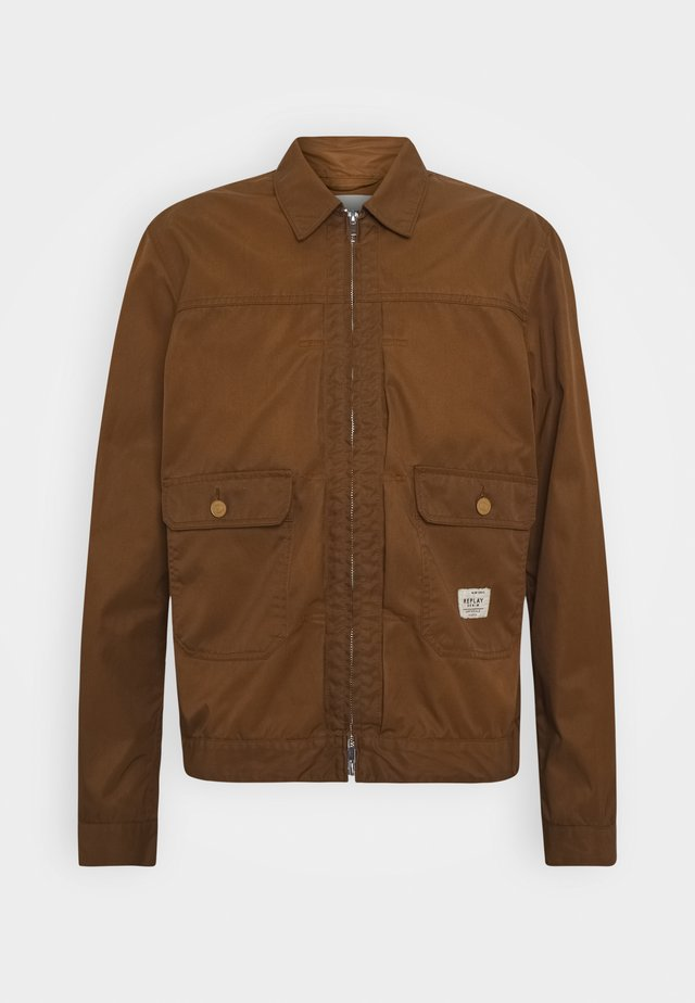 Summer jacket - tobacco