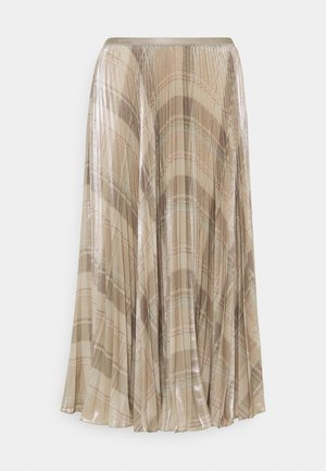 PLAID SKIRT - Jupe plissée - tan/multi