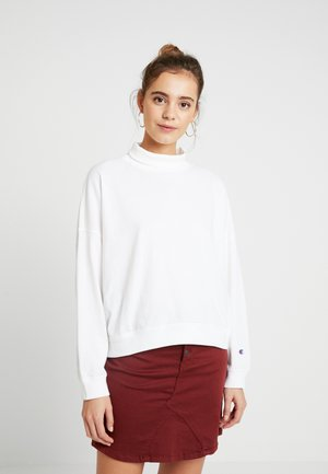 BATWING SLEEVES CREWNECK - Long sleeved top - white
